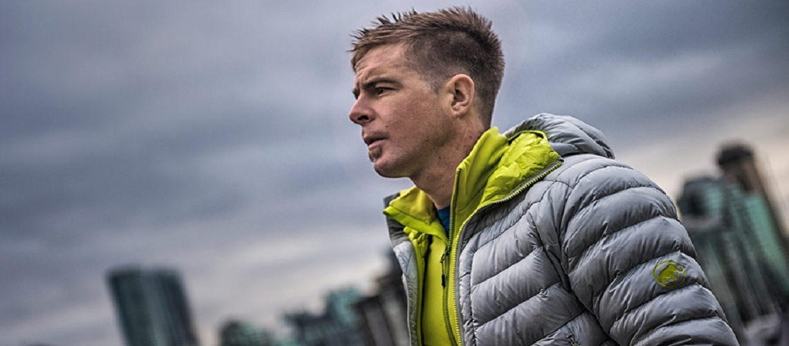 """ad2f88251 Swiss pro alpinist, Dani Arnold, has the Broad Peak jacket to thank for  many a warm day and night, """"This jacket almost always comes with me."""